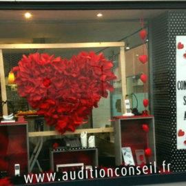 vitrine décorée -audition-conseils