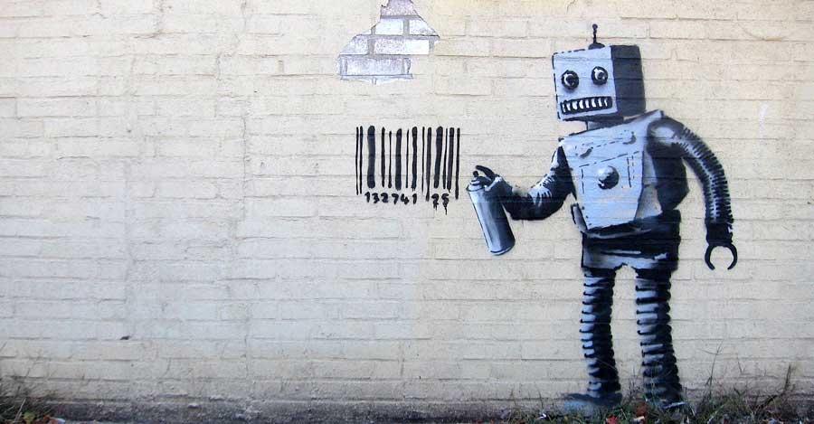 Graffiti Google bot par Branksi