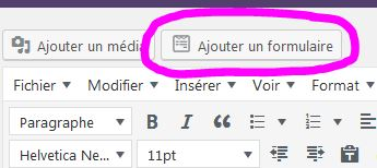 capture écran formulaire-contact-wordpress