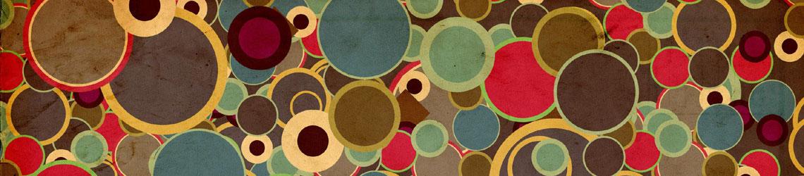 bandeau de taches de couleurs