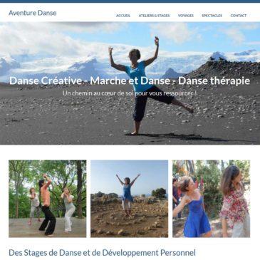 """Création du site web """"Aventure Danse"""" à Aix en Provence"""