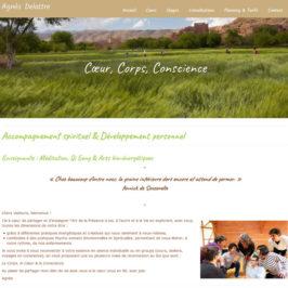 template du site web d agnès delattre