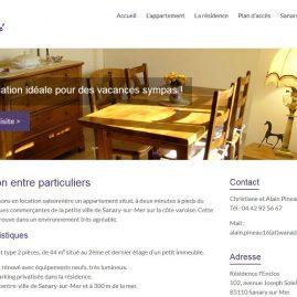 Création du site web WordPress Sanary Location