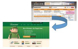 capture d 'ecran de sites web en lien