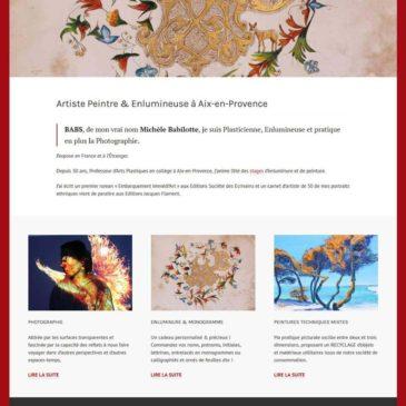 Création du site WordPress de Michèle Babilotte Artiste Peintre à Aix-en-Provence