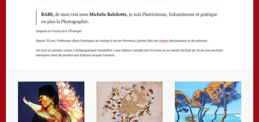 Template site Michèle Babilotte