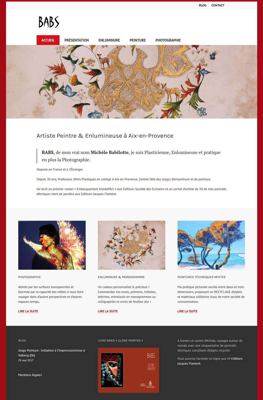 Template site Michèle Babilotte