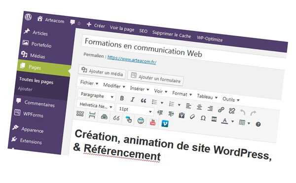 wordpress-tableau-capture d'écran