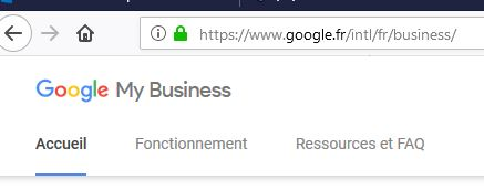 Google My Business admin