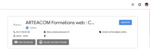 Fiche Google My Business admin