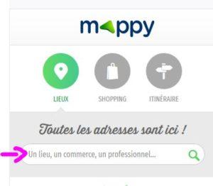 mappy capture d'écran recherche entreprise
