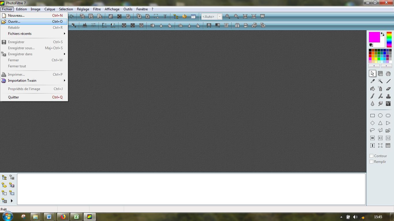 capture écran photofiltre image originale avant traitement