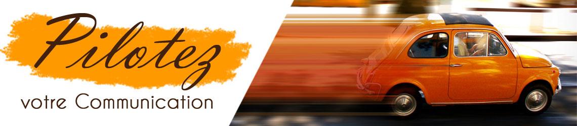 bandeau-pilotez- votre communication voiture rapide orange