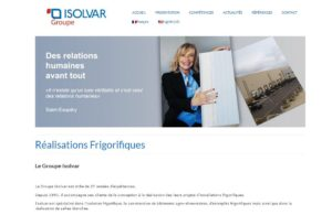 site web isolvar-page-accueil