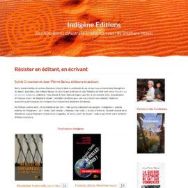 capture écran page accueil site indigène éditions