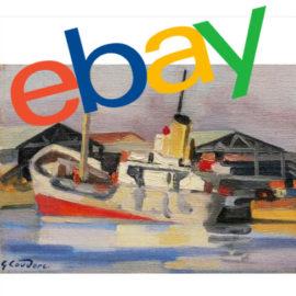 tableau bateau vendu sur ebay
