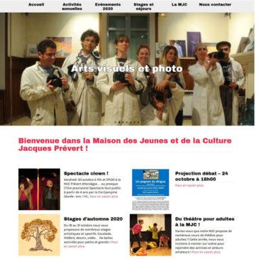 Création du nouveau site web de la MJC Prévert d'Aix-en-Provence