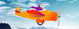 Dessin vectoriel aviatrice