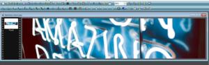 banniere photofiltre avec photo de néons bleus