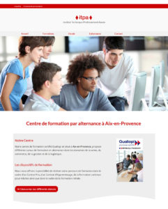 Page accueil site web itpa