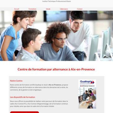 Refonte du  site web d'ITPA centre de formation en alternance à Aix-en-Provence