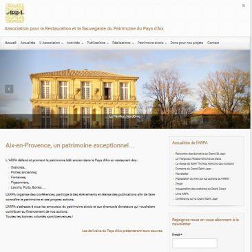 Création du site web WordPress ARPA à Aix-en-Provence